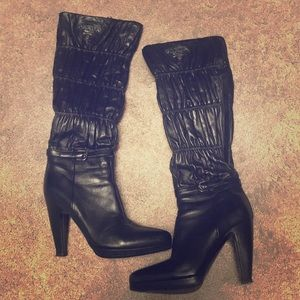 Authentic Prada zip up boots